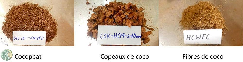 Cocopeat et fibres de coco