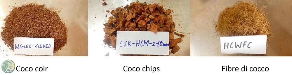 Cocopeat e fibre di cocco