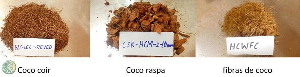 Cocopeat e fibras de coco
