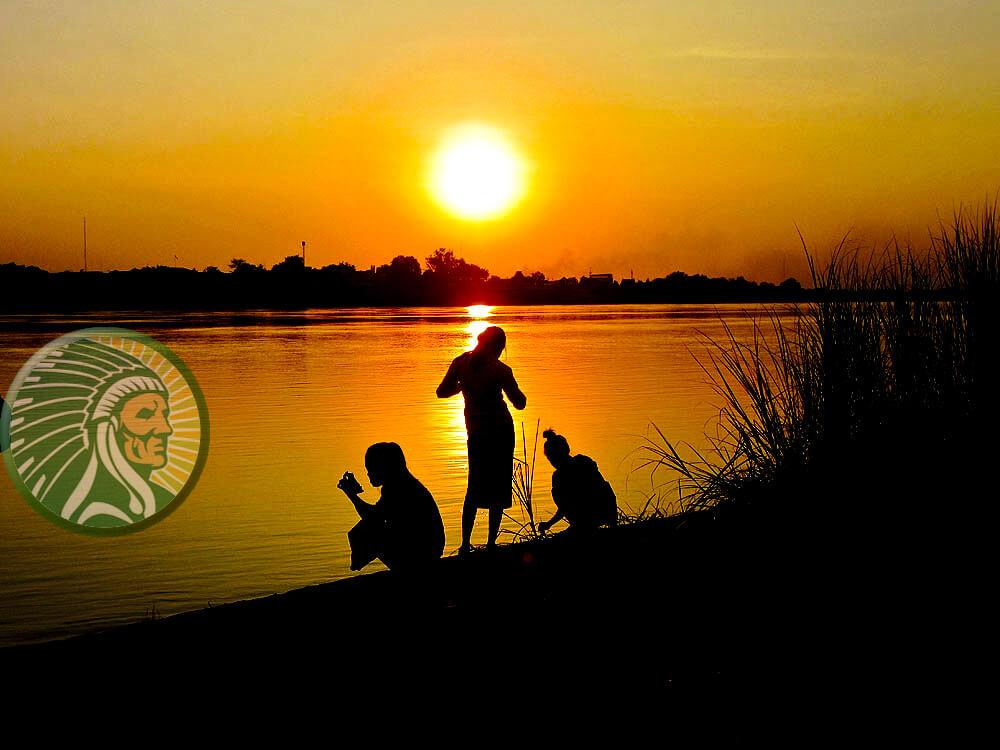 """An den Ufern des Mekong in Laos wird der dritte Fluss in Asien als """"Mutter des Wassers"""" bezeichnet."""